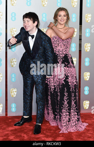 London, UK. 10th Feb, 2019. LONDON, UK. February 10, 2019: Barry Keoghan arriving for the BAFTA Film Awards 2019 at the Royal Albert Hall, London. Picture: Steve Vas/Featureflash Credit: Paul Smith/Alamy Live News - Stock Image