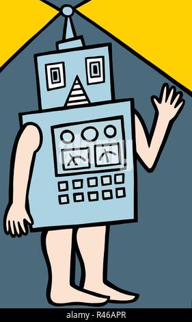 Me robot - Stock Image