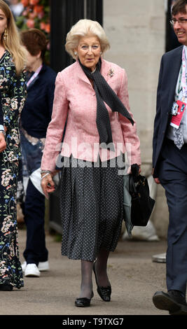 Princess Alexandra arrives at the RHS Chelsea Flower Show at the Royal Hospital Chelsea, London. - Stock Image