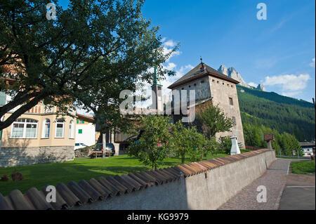 Pozza di Fassa, Alto Adige, Castle - Stock Image