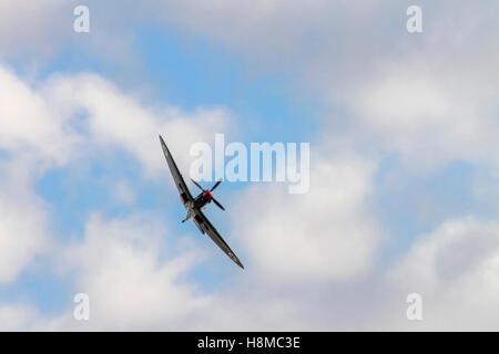 Israeli Air force Supermarine spitfire MK. IX in flight - Stock Image