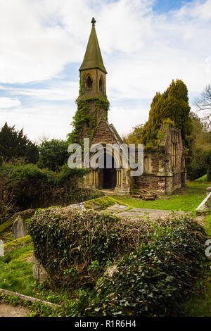 Mortuary chapel at Overton on Dee North Wales built in memory of Anna Maria Peel (nee Lethbridge) who died in 1860 - Stock Image