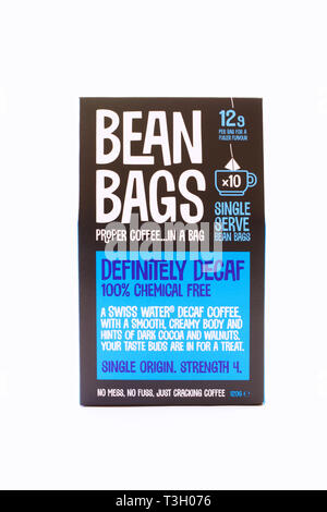 Bean Bags coffee bags. - Stock Image