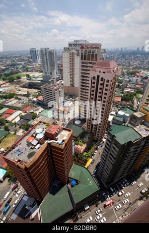 A view of Makati City, Metro Manila, Philippines. - Stock Image