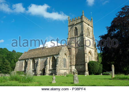 The church of St.James the Elder, in the village of Horton in South Gloucestershire, UK. - Stock Image