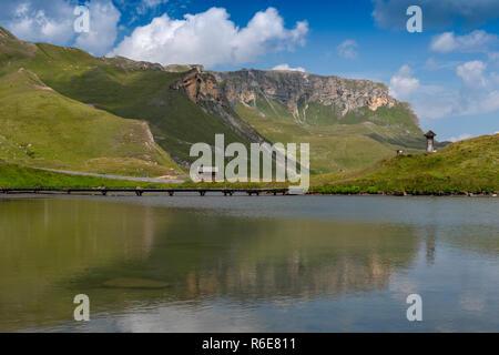 Fuscher Lacke Lake, 2262M Above Sea Level, Grossglockner High Alpine Road, Hohe Tauern National Park, Austria - Stock Image