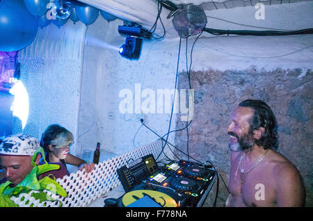 DJ Harvey at Pikes Hotel club in Ibiza - Stock Image