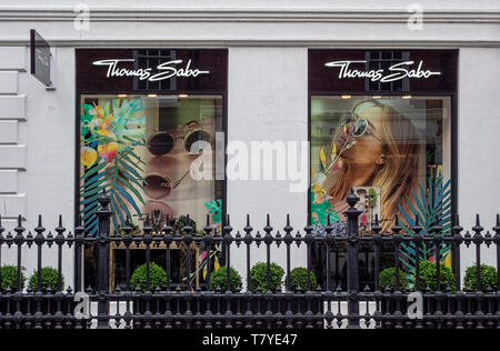 Thomas Sabo shop front South Molton Street London W1 UK - Stock Image