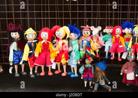 Czech Republic, Prague. Puppets for sale at Havel's Market. Credit as: Wendy Kaveney / Jaynes Gallery / DanitaDelimont.com - Stock Image