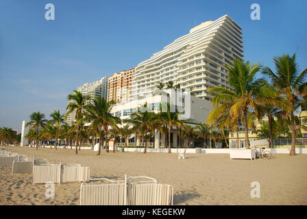 Fort Lauderdale Beach FL waterfront - Stock Image