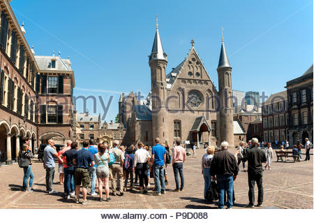 The Hague / Den Haag The Netherlands Binnenhof and Ridderzaal. - Stock Image