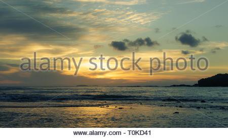 Sunset near Puerta Vallarta Mexico - Stock Image