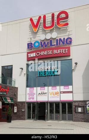 The entrance to the main leisure attractions at The Rock shopping mall, Bury, Greater Manchester. - Stock Image