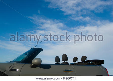 MIni Cooper cabrio in Ibiza, Spain. - Stock Image
