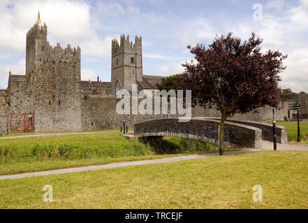 Image of medieval fortifications of the town of Fethard in County Tipperary,Ireland. - Stock Image
