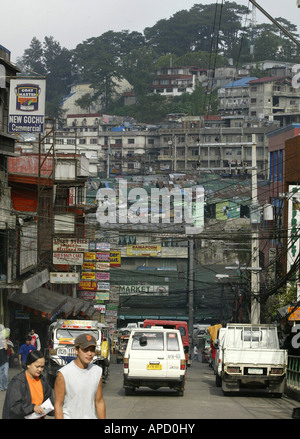 A street scene in Baguio City, Philippines. - Stock Image