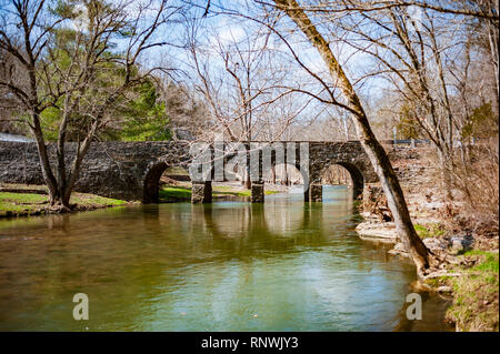 Glass Mill Bridge in Wilmore Kentucky - Stock Image