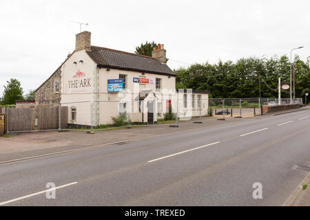 The Ark public house, formerly the Deers Leap, at Norwich Road, Thetford., Norfolk, UK unsharpened - Stock Image