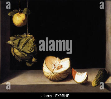 Juan Sanchez Cotan  Still Life with Quince, Cabbage, Melon, and Cucumber - The San Diego Museum of Art - Stock Image