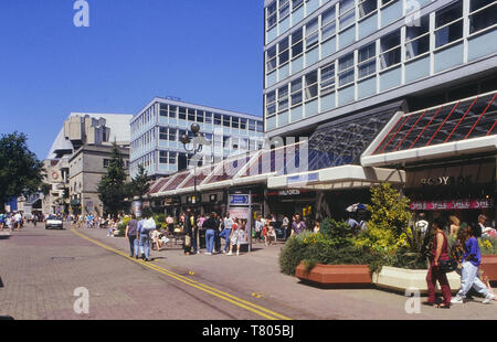 The former Oxford Arcade in the Hayes, Cardiff, Wales. Cymru. Circa 1980's - Stock Image