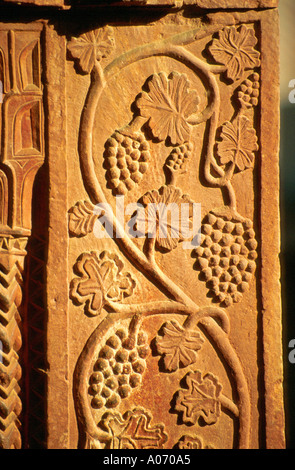Sandstone Carving, Agra Fort, Rajasthan, India - Stock Image