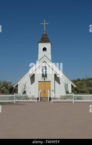 Church in Arizona desert - Stock Image