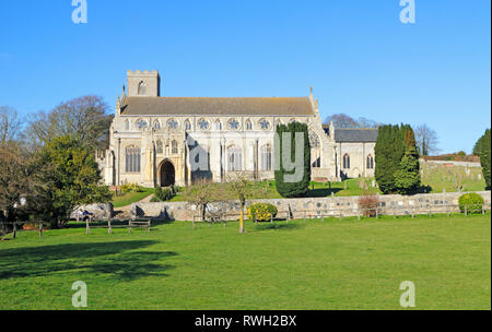 A view of the parish Church of St Margaret in North Norfolk at Cley-next-the-Sea, Norfolk, England, United Kingdom, Europe. - Stock Image