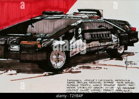 PRODUCTION DESIGN ARTWORK, BLADE RUNNER, 1982 - Stock Image
