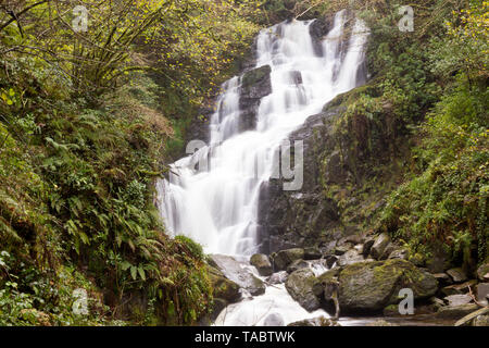 Picture of a famous Torc Waterfall in Killarney National Park,County Kerry,Ireland. - Stock Image