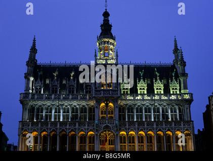 Musee de la Ville de Bruxelles (Museum of the City) also known as the Maison du Roi on the Grand Place Brussels - Stock Image