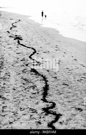 Line of life and death - Stock Image