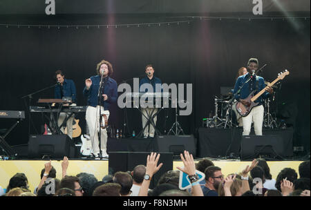 Metronomy live on stage - Stock Image