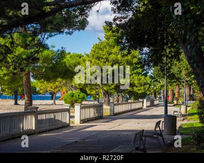 Seaside promenade in Crikvenica in Croatia - Stock Image