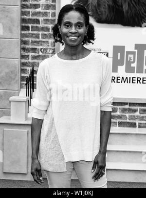 Los Angeles, CA - June 02, 2019: Adina Porter attends the Premiere Of Universal Pictures' 'The Secret Life Of Pets 2' held at Regency Village Theatre - Stock Image