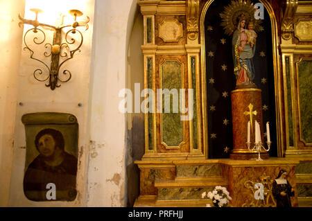 ECCE HOMO, Sanctuary of Mercy church in BORJA, Aragon, Spain, originally painted by Elias Garcia Martinez and restored by Cecilia Gimenez Zueco. - Stock Image