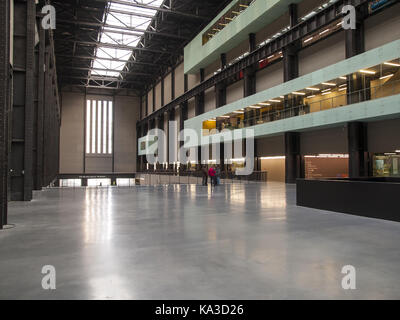 Turbine Hall - Tate Modern Art Gallery, London - Stock Image