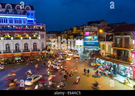 Ba Dinh square at dusk, Hanoi, Vietnam - Stock Image