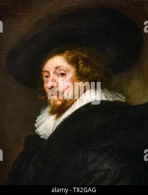 Peter Paul Rubens, self portrait (detail), c. 1638-1639 - Stock Image