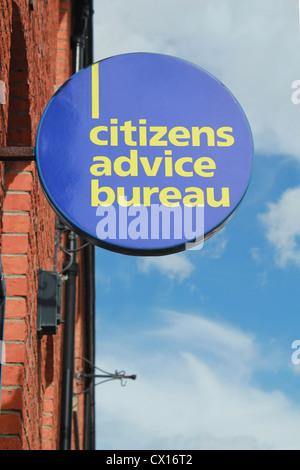 Citizens Advice Bureau sign - Stock Image