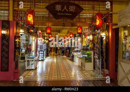 Central Market, Handicrafts and Souvenir Shops,  Kuala Lumpur, Malaysia. - Stock Image