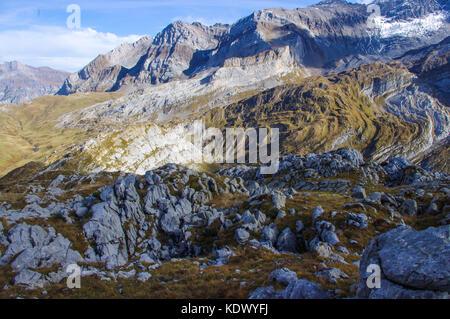 Mountain Glacial region in the Swiss Alps. Vaude, Switzerland. - Stock Image