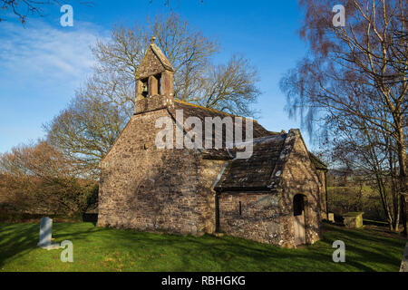 Church of the Holy Cross, Kilgwrrwg, Devauden, Monmouthshire, Wales, One of the most remote churches in Wales, and a Grade ll listed building. - Stock Image