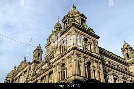 City Chambers, Glasgow City Council, George Square,Scotland, UK - Stock Image