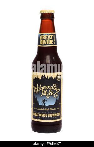 Great Divide English-Style Hibernation Ale - Stock Image
