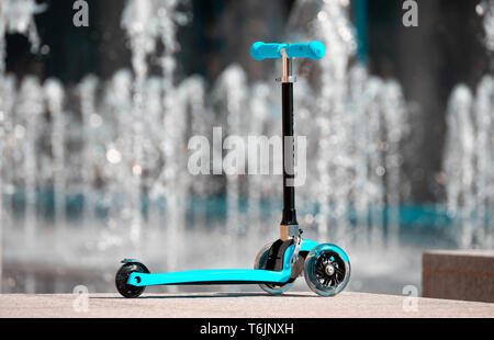 Zoom Cruzer Mini, A three-wheeled tri-scooter for children - Stock Image