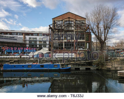 The Swan Wharf building on FIsh Island and Hackney Wick: London. - Stock Image