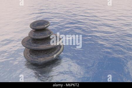 Zen spa stones - Copyspace - Stock Image