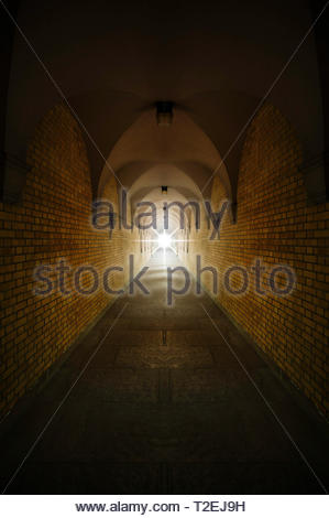 Light at the end of the tunnel. tunnel light - Stock Image