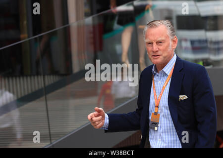 Silverstone Circuit. Northampton, UK. 13th July, 2019. FIA Formula 1 Grand Prix of Britain, Qualification Day; Sean Bratches Managing Director of the Formula 1 Commercial Operations division Credit: Action Plus Sports/Alamy Live News - Stock Image