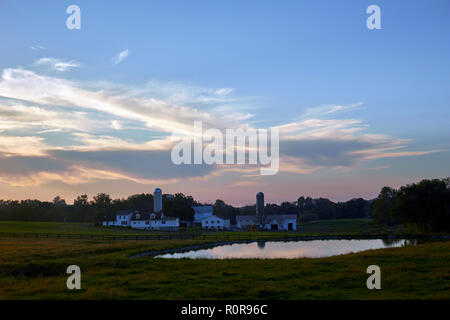 a farm in Pennsylvania Dutch Country, Lancaster County, Pennsylvania - Stock Image